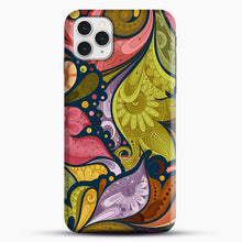 Load image into Gallery viewer, Floral Doodle iPhone 11 Pro Case, Snap Case | Webluence.com