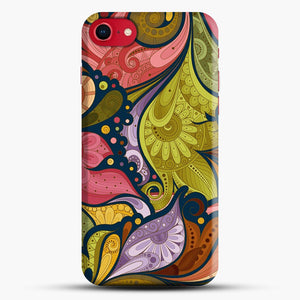 Floral Doodle iPhone 7/8 Case.jpg, Snap Case | Webluence.com