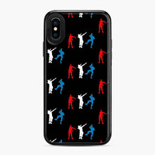 Load image into Gallery viewer, Floss Dance Gaming Fortnite iPhone X / XS Case, Black Plastic Case