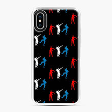 Load image into Gallery viewer, Floss Dance Gaming Fortnite iPhone X / XS Case, White Plastic Case
