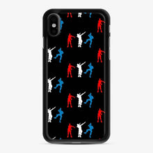 Load image into Gallery viewer, Floss Dance Gaming Fortnite iPhone X / XS Case, Black Rubber Case