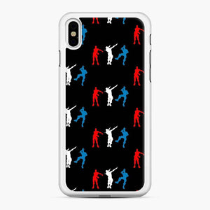 Floss Dance Gaming Fortnite iPhone X / XS Case, White Rubber Case