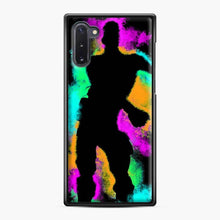 Load image into Gallery viewer, Floss Emote Splatter Fortnite Samsung Galaxy Note 10 Case, Black Plastic Case
