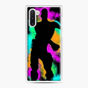 Floss Emote Splatter Fortnite Samsung Galaxy Note 10 Case, White Plastic Case