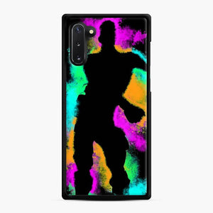 Floss Emote Splatter Fortnite Samsung Galaxy Note 10 Case, Black Rubber Case