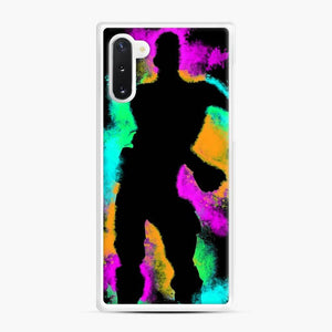 Floss Emote Splatter Fortnite Samsung Galaxy Note 10 Case, White Rubber Case