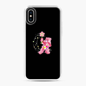 Flower Care Bears 1 iPhone X / XS Case, White Plastic Case