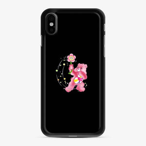 Flower Care Bears 1 iPhone X / XS Case, Black Rubber Case