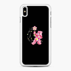 Flower Care Bears 1 iPhone X / XS Case, White Rubber Case