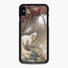 Load image into Gallery viewer, Fox Wisps Kitsune Yokai Foxfire iPhone XS Max Case