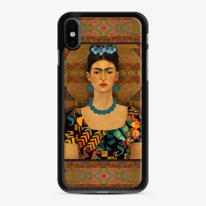 Frida Con Pendientes Azules Kahlo iPhone X/XS Case