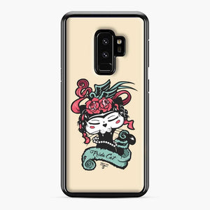 Frida Kahlo Black Cat Samsung Galaxy S9 Plus Case