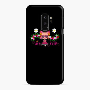 Frida Kahlo Cartoon Cute Frida With Pink Sunglasses Samsung Galaxy S9 Plus Case
