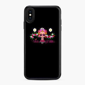 Frida Kahlo Cartoon Cute Frida With Pink Sunglasses iPhone XS Max Case