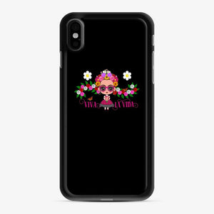 Frida Kahlo Cartoon Cute Frida With Pink Sunglasses iPhone X/XS Case