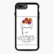 Load image into Gallery viewer, Frida Kahlo Quoteface Portrait 1 iPhone 7 Plus / 8 Plus Case