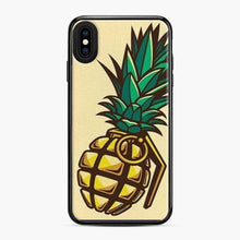 Load image into Gallery viewer, Fruit Nanas Bomb Yellow Collage Grenade Parody Wars Fighting iPhone XS Max Case