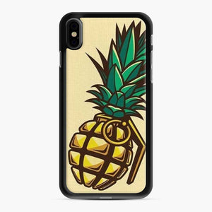 Fruit Nanas Bomb Yellow Collage Grenade Parody Wars Fighting iPhone XS Max Case