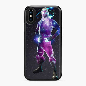 Galaxy Fortnite iPhone X / XS Case, Black Plastic Case