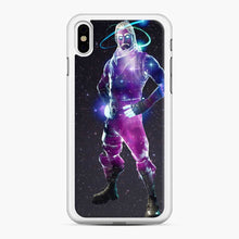 Load image into Gallery viewer, Galaxy Fortnite iPhone X / XS Case, White Rubber Case