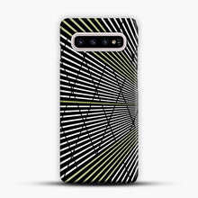 Load image into Gallery viewer, Gold and Black Line Pattern Samsung Galaxy S10 Plus Case, Snap Case | Webluence.com