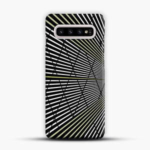 Gold and Black Line Pattern Samsung Galaxy S10 Plus Case, Snap Case | Webluence.com