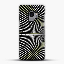 Load image into Gallery viewer, Gold and Black Line Pattern Samsung Galaxy S9 Case, Snap Case | Webluence.com