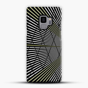 Gold and Black Line Pattern Samsung Galaxy S9 Case, Snap Case | Webluence.com
