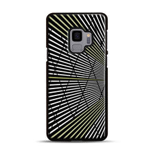 Load image into Gallery viewer, Gold and Black Line Pattern Samsung Galaxy S9 Case, Black Rubber Case | Webluence.com