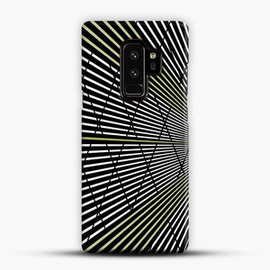Gold and Black Line Pattern Samsung Galaxy S9 Plus Case, Snap Case | Webluence.com