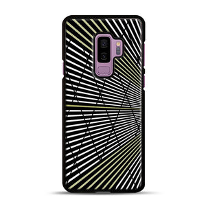 Gold and Black Line Pattern Samsung Galaxy S9 Plus Case, Black Rubber Case | Webluence.com