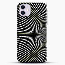 Load image into Gallery viewer, Gold and Black Line Pattern iPhone 11 Case.jpg, Snap Case | Webluence.com