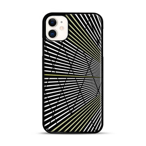 Gold and Black Line Pattern iPhone 11 Case.jpg, Black Rubber Case | Webluence.com