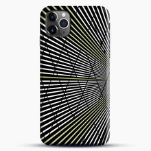 Load image into Gallery viewer, Gold and Black Line Pattern iPhone 11 Pro Max Case.jpg, Snap Case | Webluence.com