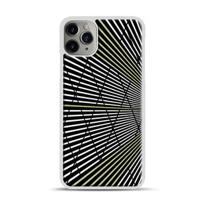 Gold and Black Line Pattern iPhone 11 Pro Max Case.jpg, White Plastic Case | Webluence.com