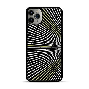 Gold and Black Line Pattern iPhone 11 Pro Max Case.jpg, Black Plastic Case | Webluence.com