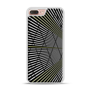 Gold and Black Line Pattern iPhone 7 Plus/8 Plus Case, White Rubber Case | Webluence.com