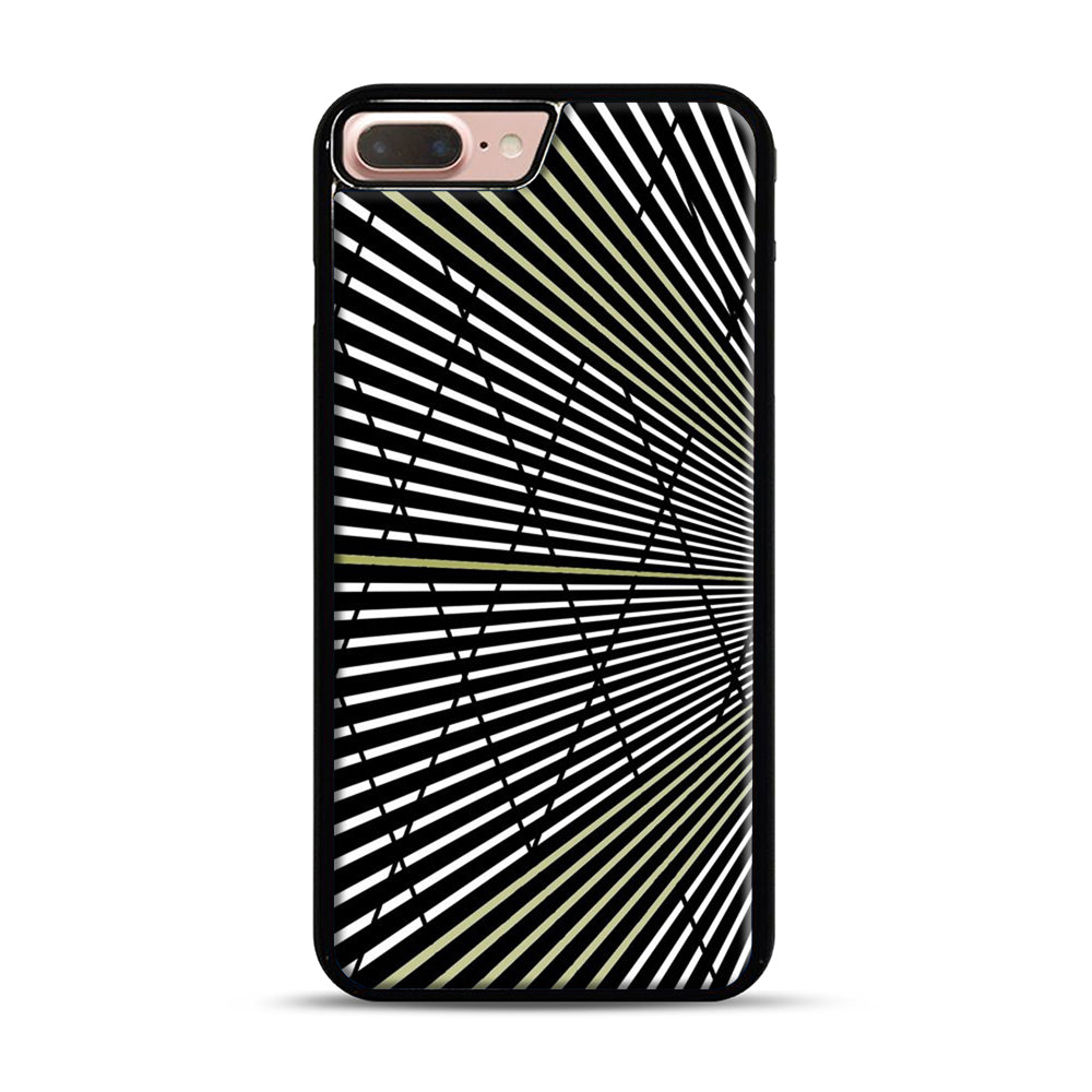 Gold and Black Line Pattern iPhone 7 Plus/8 Plus Case, Black Plastic Case | Webluence.com