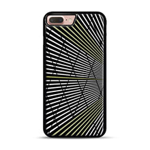 Load image into Gallery viewer, Gold and Black Line Pattern iPhone 7 Plus/8 Plus Case, Black Rubber Case | Webluence.com