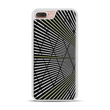 Load image into Gallery viewer, Gold and Black Line Pattern iPhone 7 Plus/8 Plus Case, White Plastic Case | Webluence.com
