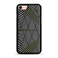 Load image into Gallery viewer, Gold and Black Line Pattern iPhone 7/8 Case.jpg, Black Plastic Case | Webluence.com
