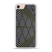 Load image into Gallery viewer, Gold and Black Line Pattern iPhone 7/8 Case.jpg, White Plastic Case | Webluence.com