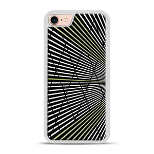 Gold and Black Line Pattern iPhone 7/8 Case.jpg, White Plastic Case | Webluence.com