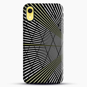 Gold and Black Line Pattern iPhone XR Case, Snap Case | Webluence.com
