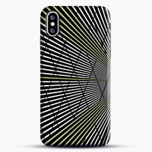 Load image into Gallery viewer, Gold and Black Line Pattern iPhone XS Max Case, Snap Case | Webluence.com