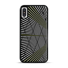 Load image into Gallery viewer, Gold and Black Line Pattern iPhone X/XS Case, Black Plastic Case | Webluence.com