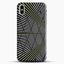 Load image into Gallery viewer, Gold and Black Line Pattern iPhone X/XS Case, Snap Case | Webluence.com