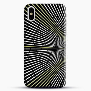 Gold and Black Line Pattern iPhone X/XS Case, Snap Case | Webluence.com