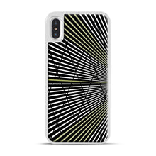 Load image into Gallery viewer, Gold and Black Line Pattern iPhone X/XS Case, White Plastic Case | Webluence.com