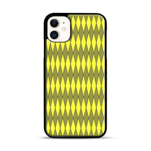 Load image into Gallery viewer, Gold, Diamond, Checkerboard iPhone 11 Case.jpg, Black Plastic Case | Webluence.com